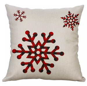 "Buffalo Check Snowflakes Christmas Pillow Cover 18""x18"" *CLEARANCE*"