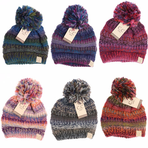 Baby/Toddler/Kid C.C. Multi Color Knit Beanies