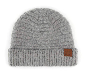 CC Boucle Knit Ribbed Beanies 4 Colors (Adult/One Size)!