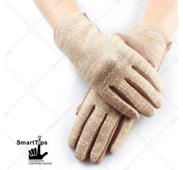 CC Textured Gloves With Smart Tip Finger. 4 Colors!