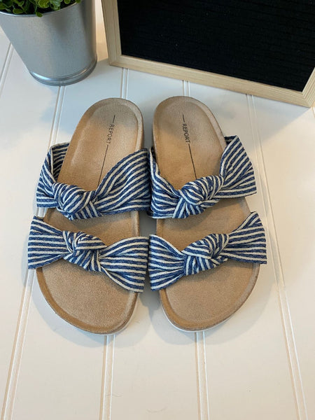 Pre-Loved NEW Report Fabric Knot Sandals, Size 6