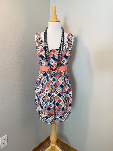 Pre-Loved Women's Umgee Geometric Print Dress, L