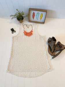 Pre-Loved Women's Lace Tank, Size L