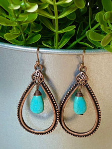 Boho Tear Drop Earrings