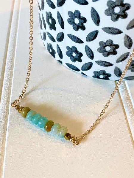 Stone Beaded Bar Style Choker/Necklace