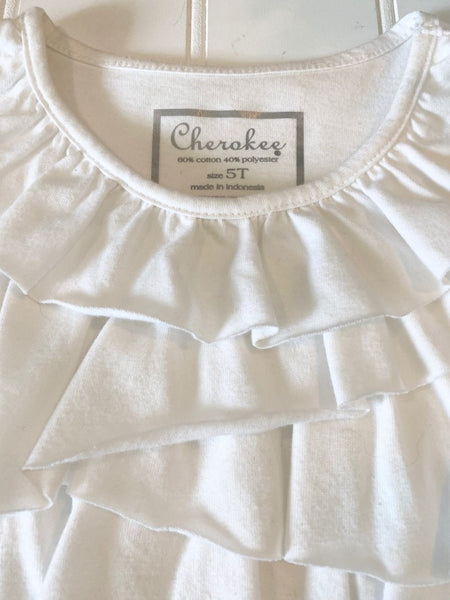 Pre-Loved Girls Cherokee Ruffle Top, size 5T