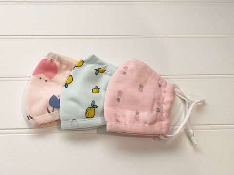 Face Mask- Organic Cotton- Kids Sizes!