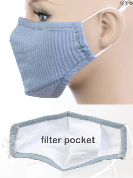 Face Mask-Adult Cotton Solid Color