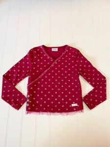 Pre-Loved Girls Naartjie Faux Wrap Star Top Size 7