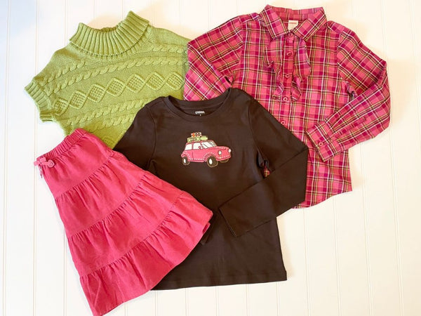 Pre-Loved Girls LIKE NEW! Gymboree 4pc Outfit Size 7