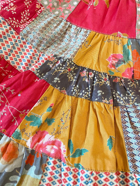 Pre-Loved Girls NEW Room Seven Patchwork Print Twirl Skirt Size 4