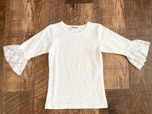 Pre-Loved Girls NEW Taylor Joelle Designs Lace Top Size 8