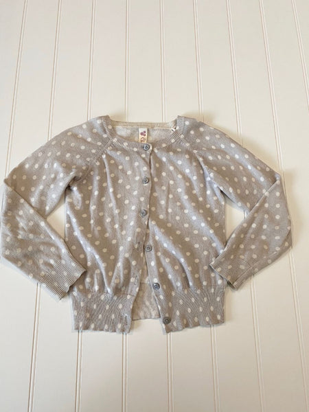 Pre-Loved Girls Cherokee Polka Dot Sweater Cardigan Size 5T