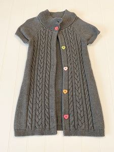 Pre-Loved Girls Gymboree Sweater Button Up Cardigan Duster Size 5/6