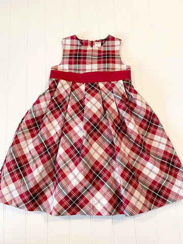 Pre-Loved Girls Like New Gymboree Plaid Christmas Dress, Size 6