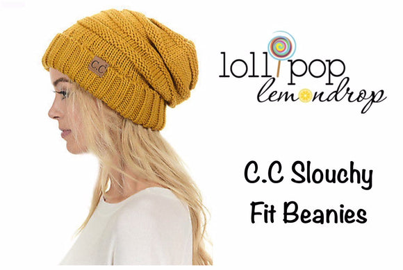 C.C. Inspired Slouch Beanie*CLEARANCE*