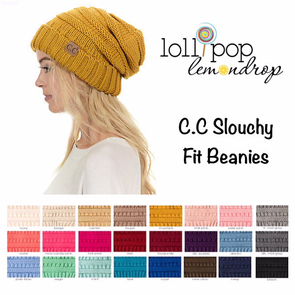 C.C. Slouch Beanie Authentic (Adult/One Size)