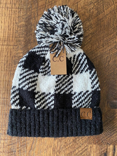 CC Buffalo Check Pom Beanie So SOFT