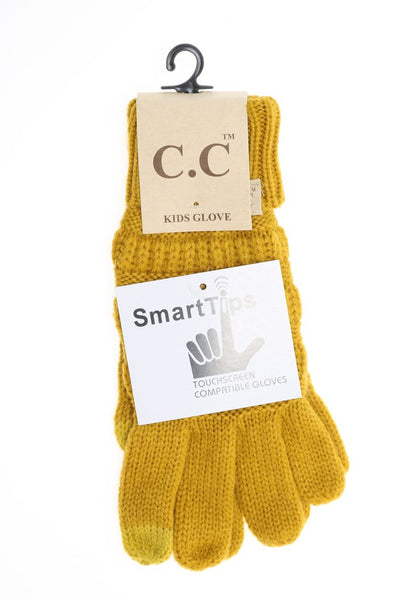 C.C Gloves With Smart Tip Finger! Kids Sizes!
