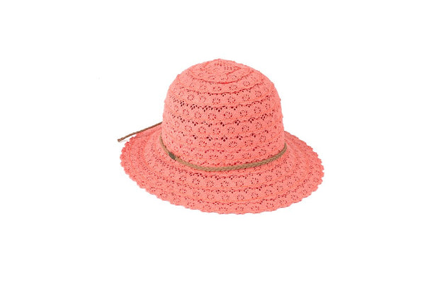 Toddler/Kids CC Lace Floppy Brim Adjustable Sunhats