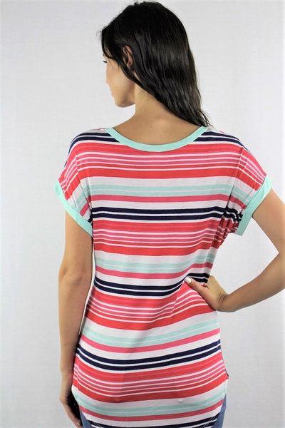 New Women's Boutique Short Sleeve Round Neck Pocket Tee XS, S, M, L