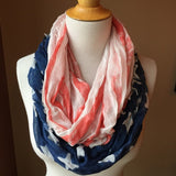 Pre-Loved Scarf: American flag infinity scarf New w/o tags