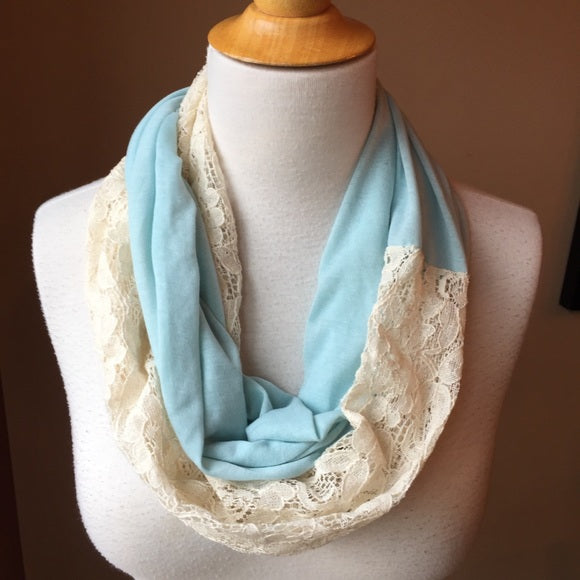 Pre-Loved Scarf: Lace Mix Infinity Scarf
