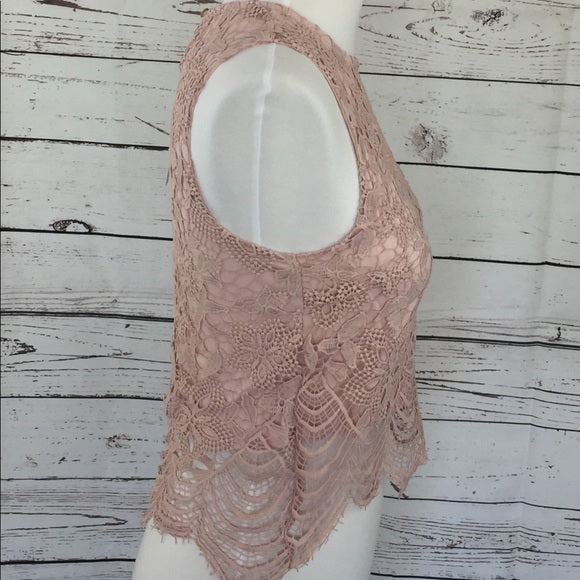 SAMPLE SALE! NEW Women's Boutique Lace Dressy Crop Tank, Size Small