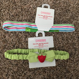 Pre-Loved Girls Two New Gymboree Headbands OS