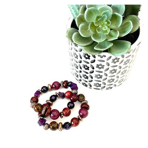 Pre-Loved Two beaded stretch bracelets