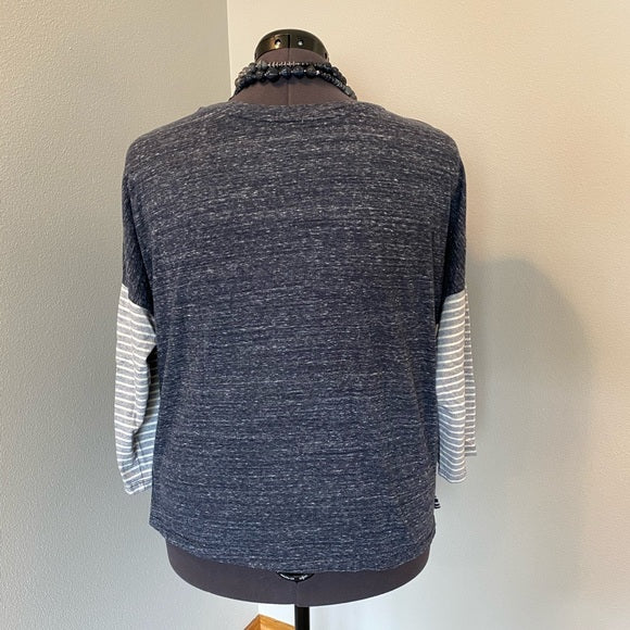 Pre-Loved Old Navy striped 3/4 sleeve top, Plus size XXL
