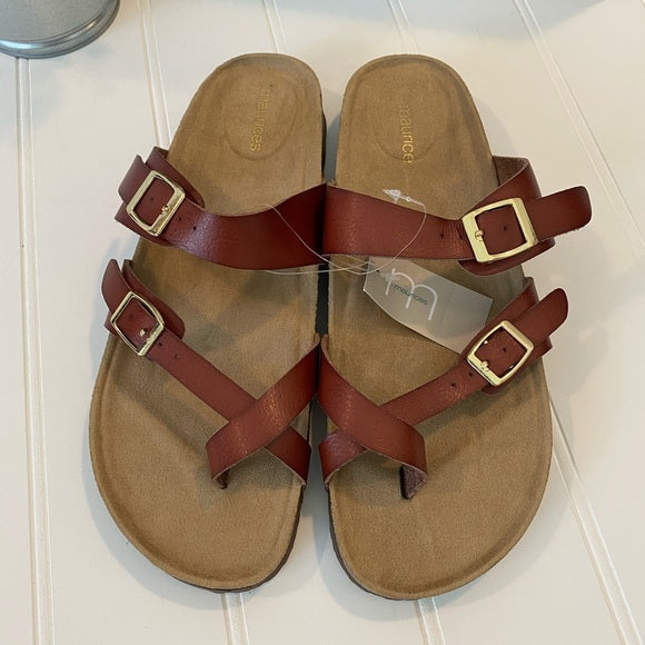 Pre-Loved Women's Shoes: NEW Maurices cognac sandals, size 9