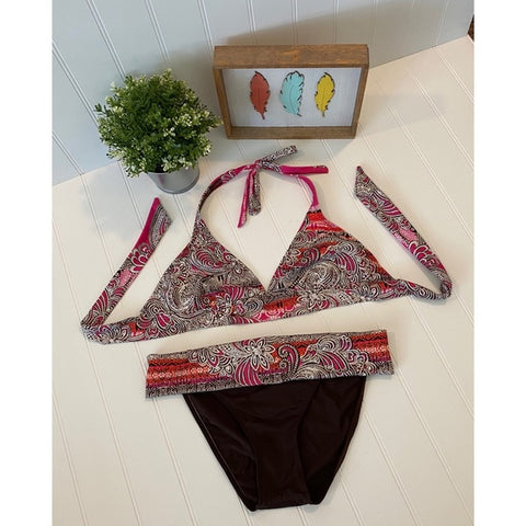 Pre-Loved Kechika 2pc Bikini Swimsuit Size 10