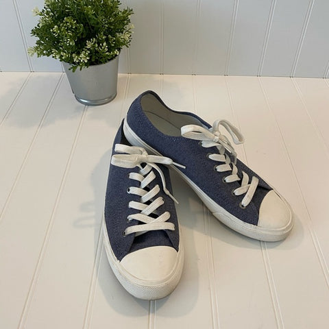 Pre-Loved Men's H&M Denim Canvas Converse-Like Shoes sz 10/11 (EUR 43)