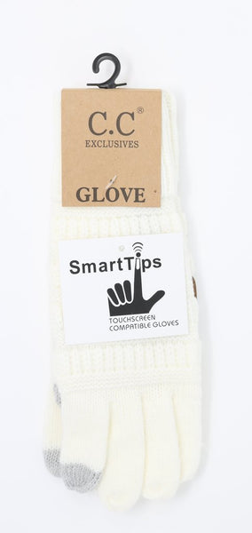 C.C. Gloves With Smart Tip Finger! Adult Sizes! Several Colors!