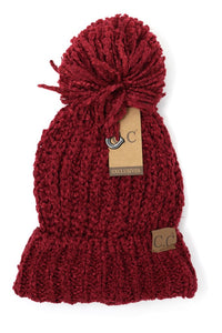 CC Chenille Pom Beanie (Adult/One Size)
