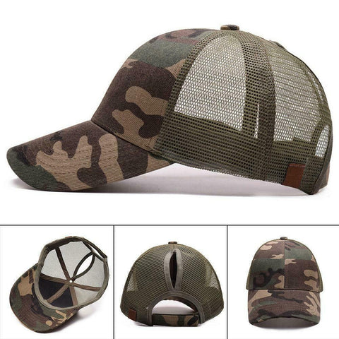 C.C. High Ponytail Camo Ball Cap  (Adult/One Size)
