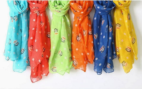 "Kids Or Adult ""Monkey Business"" Lightweight Scarves *SALE*"