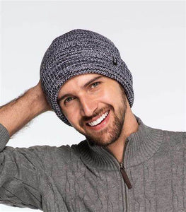 CC Unisex Two-Toned Marled Cuff Beanie Men or Women 3 colors (Adult/One Size)