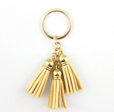 Faux Leather Tassel Key Chains
