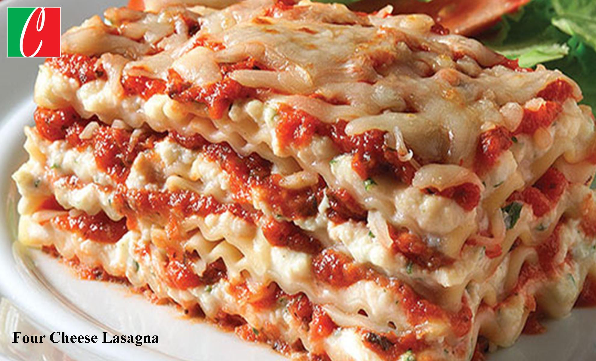 Traditional Four Cheese Lasagna - Half Pans serve 8 - 10 people