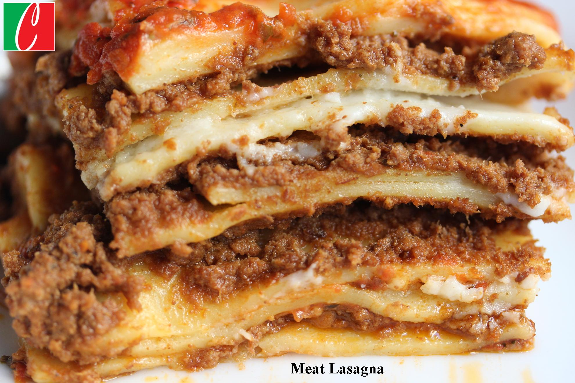 Traditional Meat  Lasagna - Half Pan serves 8 - 10 people
