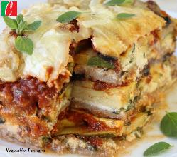 Veggie Lasagna -  Half Pan serve 8 - 10 people