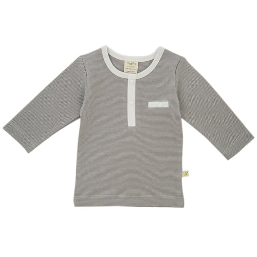 Tiny Twig Organic Cotton Granite Stripe Henley Tee for Babies