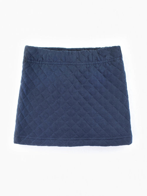 Navy Quilted Skirt