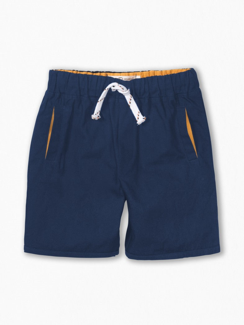 Colored Organics Organic Navy Board Shorts for Toddler Boys