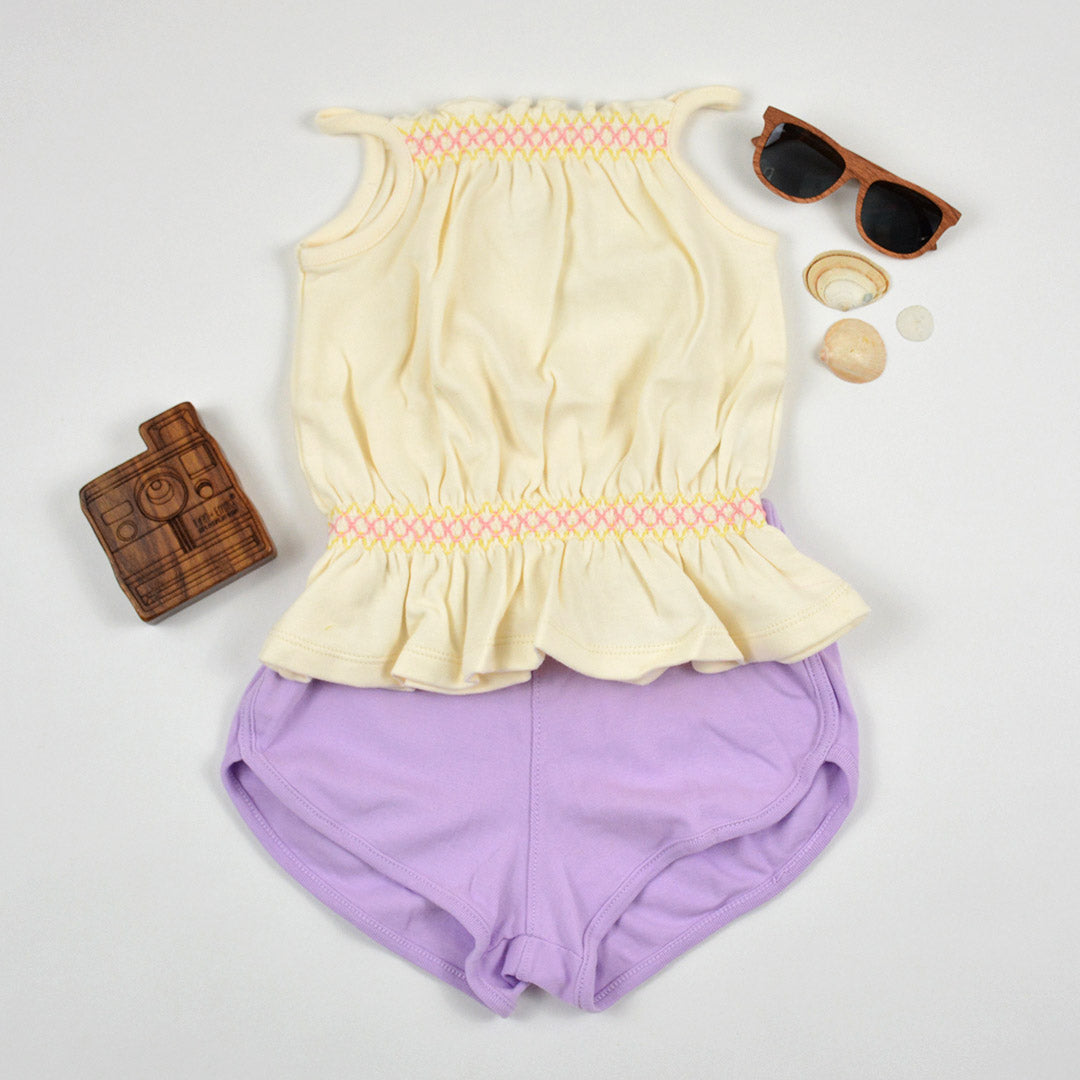 Lilac Track Shorts