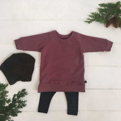 Mauve Sweatshirt Dress