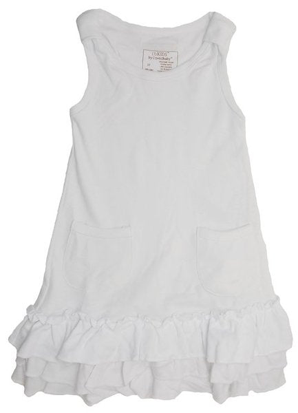 White Ruffle Dress with Bloomers