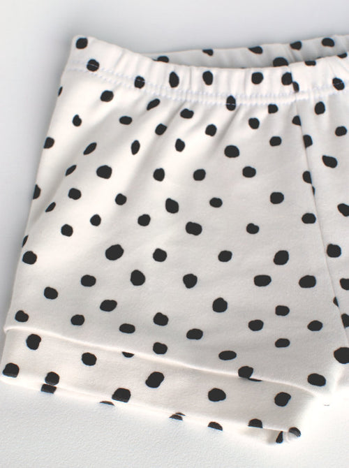 Lola and Stella organic cotton polka dot shorts for babies